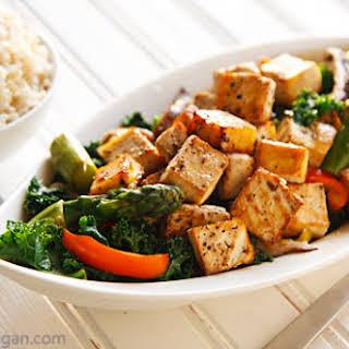 Thai Black Pepper and Garlic Tofu.