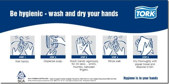 wash & dry hands