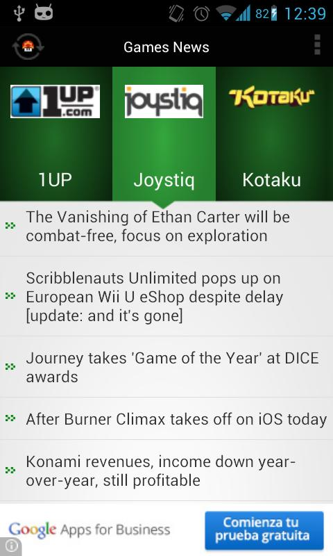 Games News Lite - screenshot