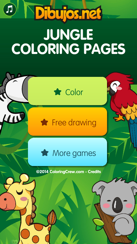 Jungle Coloring  Pages- screenshot