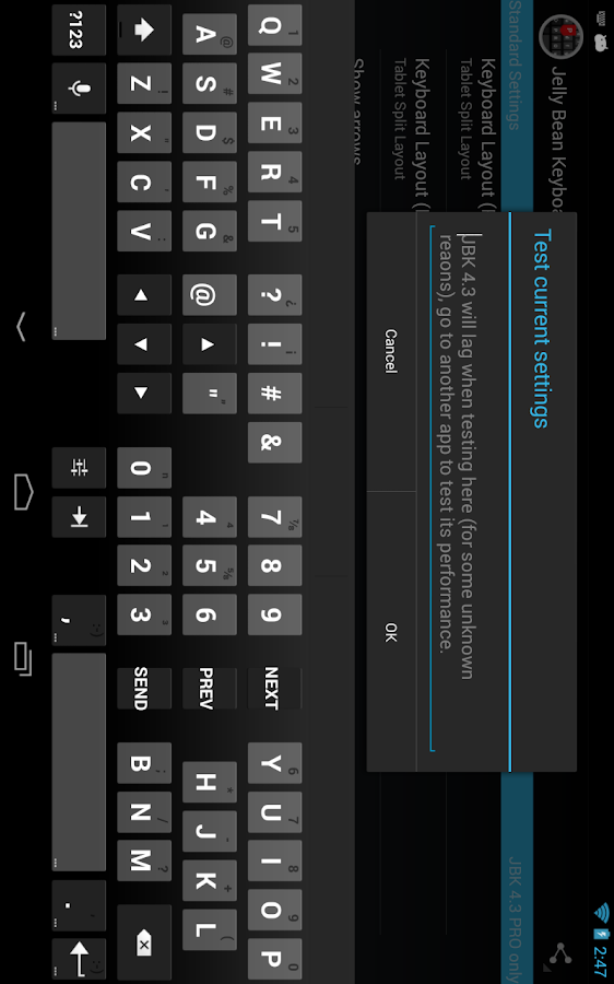 Jelly Bean Keyboard 4.3 Free- screenshot
