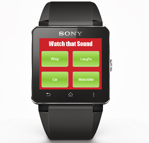 Watch that sound SmartWatch 2