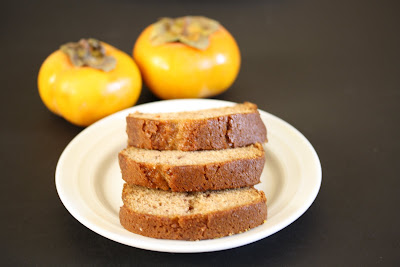 Persimmon Bread slices on a plate