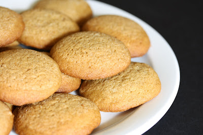 close-up photo of a plate of Soft Ginger Cookies