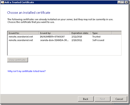 Installing a GoDaddy Standard SSL Certificate on SBS 2008 ...