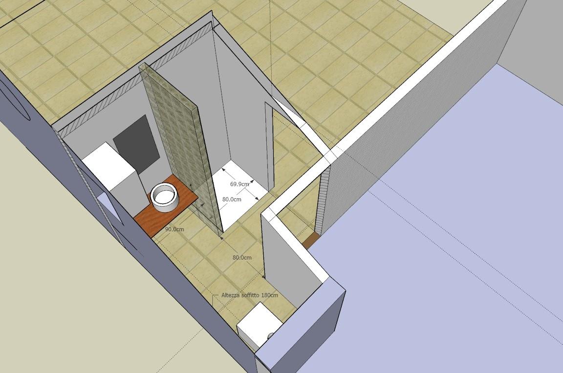 La nostra casetta bagno in mansarda for Arredare sottotetto non abitabile