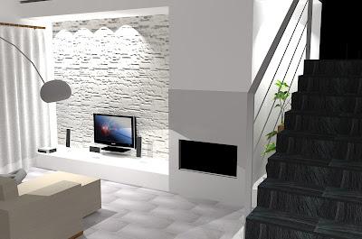 La nostra casetta agosto 2010 for Parete in pietra con tv