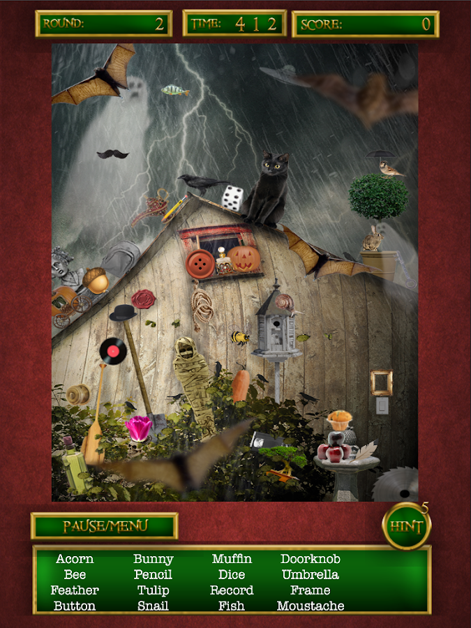 hidden objects ghostly halloween is a spooky hidden object game with ...