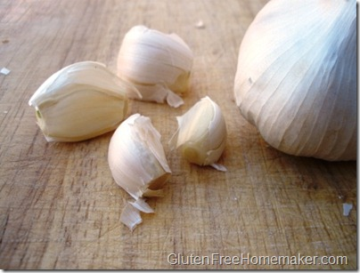 garlic unpeeled