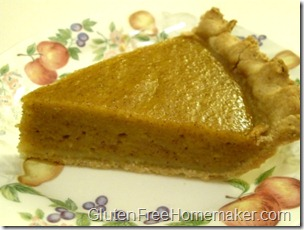 pumpkin pie slice GFDF