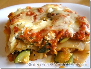 vegetable lasagna on plate