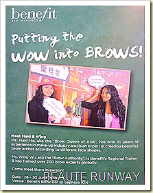 Benefit Brow Experts Maki Ho & Wing Wu