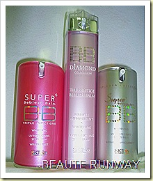Skin79 Hot Pink, Diamond and Super VIP bb creams