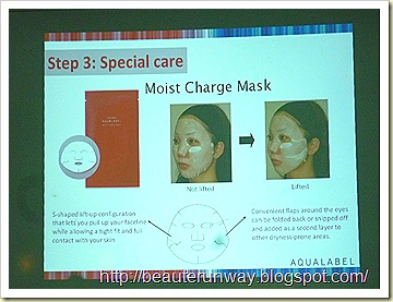 Aqualabel Moisture Charge mask