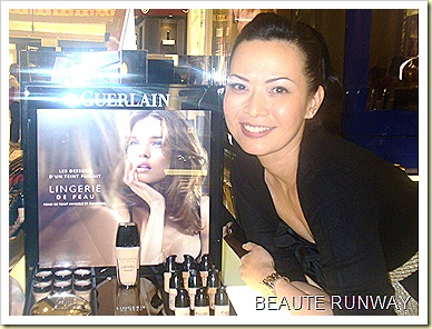 Guerlain Lingerie de peau launch with Andrea de Cruz