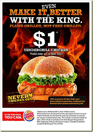 Burger King $1 Tendergrill Chicken Burger