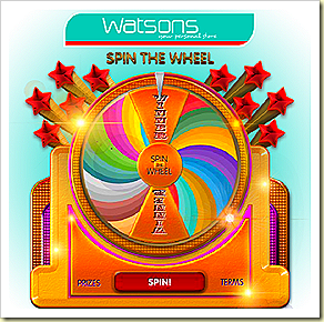 WATSONS SPIN THE WHEEL CONTEST