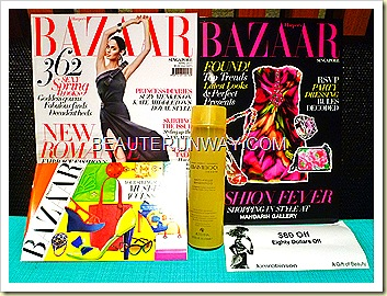 Harpers Bazaar Alterna bamboo shampoo anti-frizz smooth hair Kinokuniya