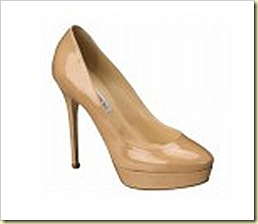 JIMMY CHOO IN 247 COSMIC IN NUDE PATENT