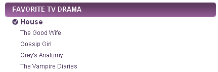 People's Choice Awards 2011 Nominees - best favorite drama house