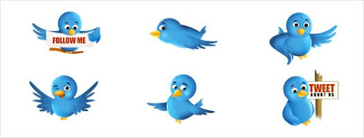 Twitter Bird Icon set