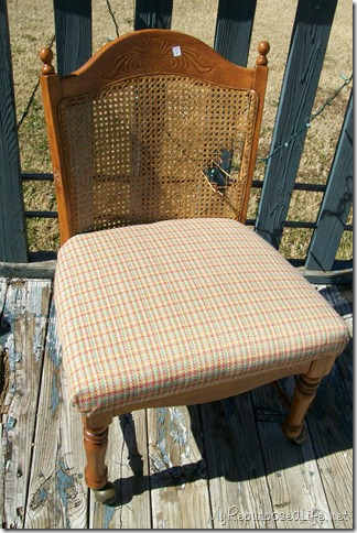 broken cane back chair
