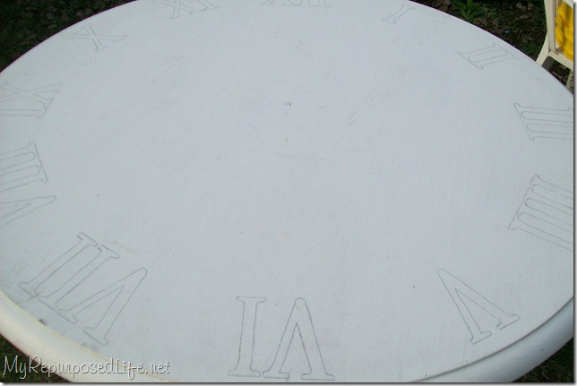 extra large faux stenciled clock