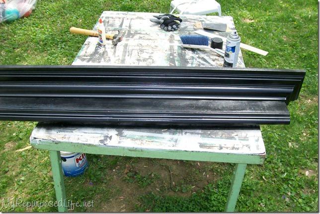 spray paint coat rack wall shelf