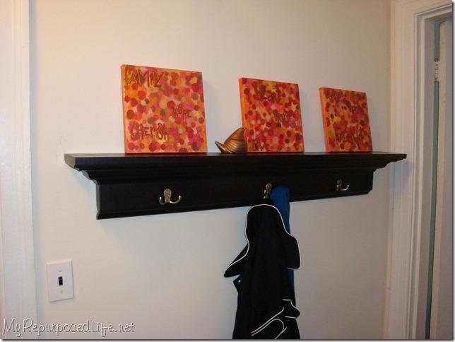 coat rack wall shelf