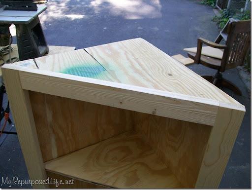 DIY corner cabinet - My Repurposed Life®