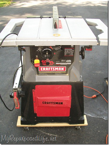 table saw on wheels