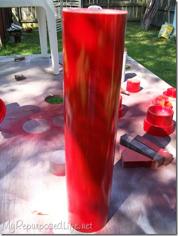 red pvc fire hydrant for dogs