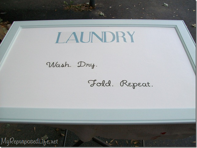 laundry sign wash, dry, fold, repeat