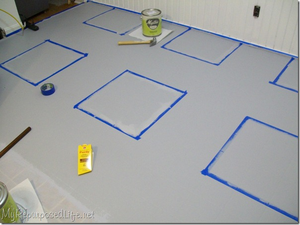 Scotch Blue on vinyl floor