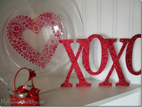 easy valentine decor DIY