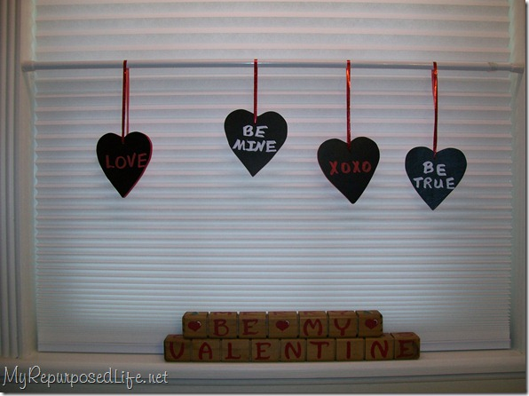wooden hearts for valentine's day