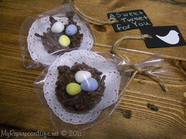 how to make chocolate bird nests