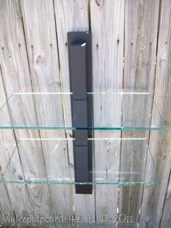 wood and glass shelf