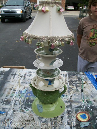 stacked teacup teapot lamp