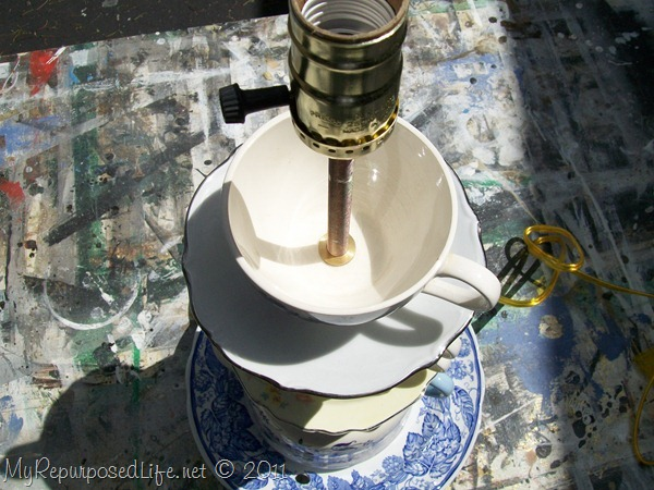 how to wire a diy teapot lamp