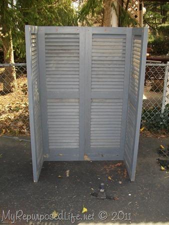 shutters repurposed bookshelf (3)