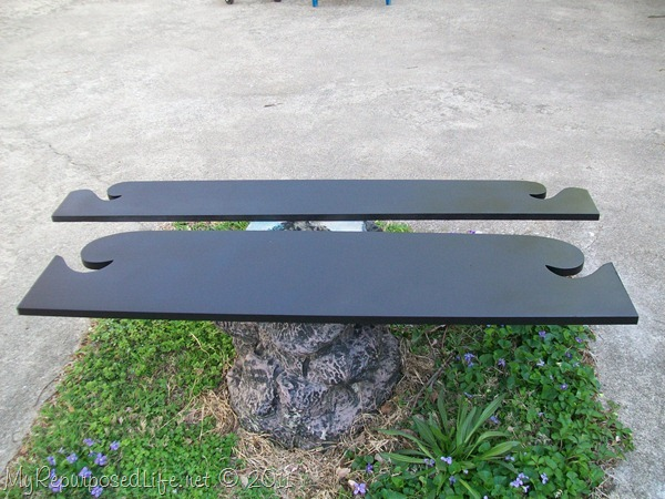 repurposed footboard into sign (3)