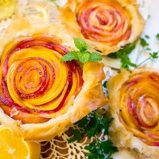 Nectarine Phyllo Tarts.