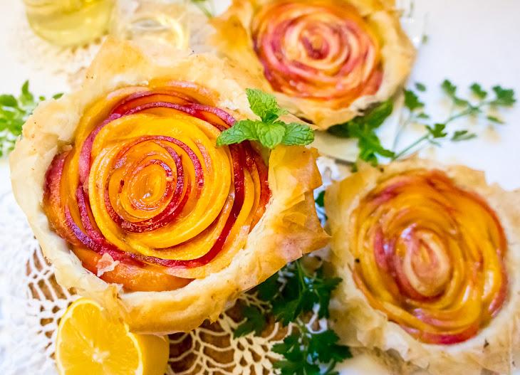 Nectarine Phyllo Tarts Recipe