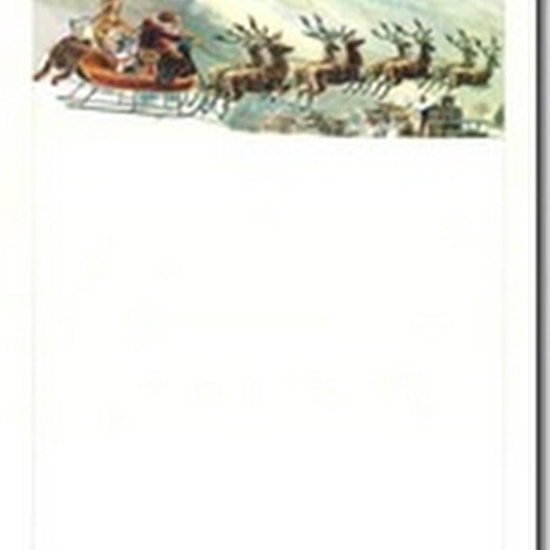 Cartas Papa Noel y Santa para imprimir