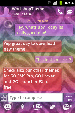 GO SMS Theme Zebra Buy