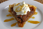Maple Pecan Pie with Maple Whipped Cream and Maple Syrup