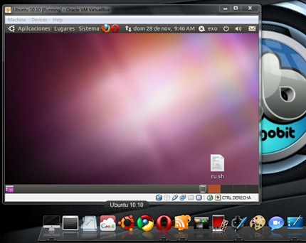 VirtualBox shortcut on XWindowsDock