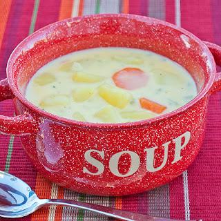 Hearty Cheesy Potato Soup.