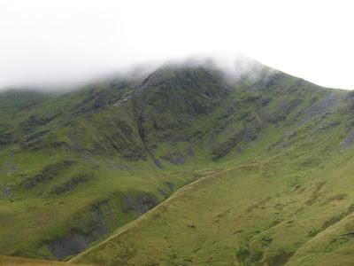 View over Sharp Edge towards Blencathra